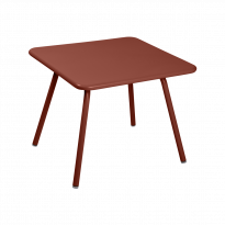 TABLE 57 x 57 LUXEMBOURG KID, Ocre rouge de FERMOB