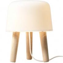 LAMPE A POSER MILK, Câble blanc / Piétement chêne de &TRADITION