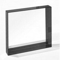 MIROIR ONLY ME 50 x 50 cm, Noir brillant de KARTELL