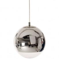 SUSPENSION MIRROR BALL DIAMETRE 25 CM DE TOM DIXON, CHROME