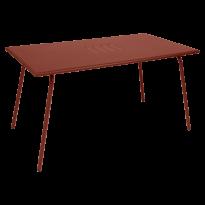 TABLE MONCEAU 146X80X74 OCRE ROUGE de FERMOB