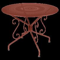 TABLE MONTMARTRE Ø96 CM, Ocre rouge de FERMOB