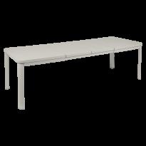 Table 2 allonges OLERON 155/255X100 de Fermob, Gris argile