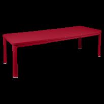 Table 2 allonges OLERON 155/255X100 de Fermob, Piment