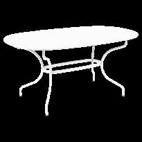 TABLE OVALE OPÉRA + 160x90 CM, Blanc coton de FERMOB