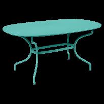 TABLE OVALE OPÉRA + 160x90 CM, Bleu lagune de FERMOB
