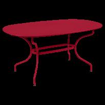 TABLE OVALE OPÉRA + 160x90 CM, Piment de FERMOB