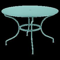 TABLE RONDE OPÉRA +, D. 117, Bleu lagune de FERMOB