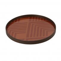 PLATEAU ORANGE CHEVRON, Orange et rouge d