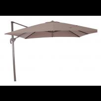 Parasol déporté DOMINIK, 300 x 300, Taupe