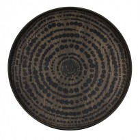PLATEAU BLACK BEADS, D.48, Noir d