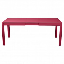 Table à allonges RIBAMBELLE de Fermob, 1 allonge, Rose praline