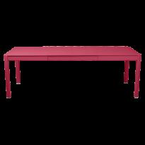 Table à allonges RIBAMBELLE de Fermob, 2 allonges, Rose praline