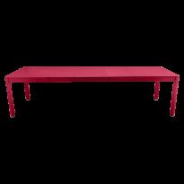 Table à allonges RIBAMBELLE de Fermob, 3 allonges, Rose praline