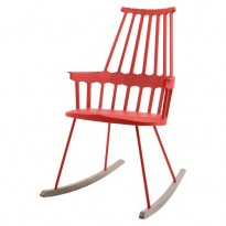 ROCKING CHAIR COMBACK DE KARTELL, ROUGE ORANGÉ