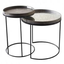 SET DE 2 TABLES HAUTES ROUND, H.66/57 d