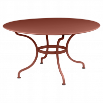 TABLE RONDE D.137 CM ROMANE, Ocre rouge de FERMOB