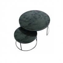 TABLE BASSE NESTING, Charcoal - Heavy Aged Mirror de ETHNICRAFT