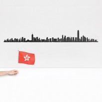 SKYLINE HONG KONG 125CM, Noir de THELINE