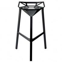 TABOURET DE BAR STOOL ONE H.67 cm, Noir de MAGIS