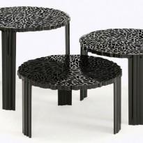 TABLE BASSE T-TABLE, 28 cm, Noir opaque de KARTELL