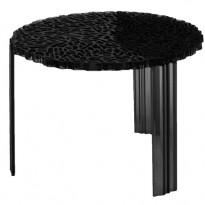 TABLE BASSE T-TABLE, 36 cm, Noir opaque de KARTELL