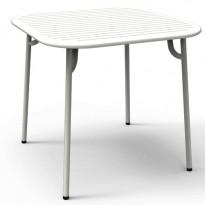 TABLE CARRÉE WEEK END, Blanc de PETITE FRITURE