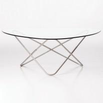 TABLE AO, Socle Inox marin, Transparent de AIRBORNE