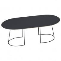 TABLE BASSE AIRY LARGE DE MUUTO, NOIR