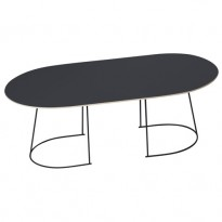 TABLE BASSE AIRY MEDIUM DE MUUTO, NOIR