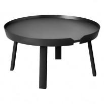 TABLE BASSE AROUND, Large, Noir de MUUTO