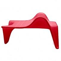 TABLE BASSE F3, Rouge de VONDOM