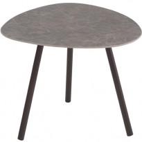 TABLE BASSE TERRAMARE, 48 x 48 cm, Marron d