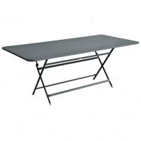 TABLE RECTANGULAIRE CARACTERE GRIS ORAGE de FERMOB
