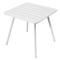 TABLE CARRÉE 4 PIEDS LUXEMBOURG 80 x 80 cm, Blanc coton de FERMOB