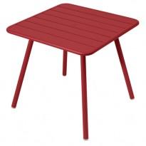 TABLE CARRÉE 4 PIEDS LUXEMBOURG 80 x 80 cm, Piment de FERMOB