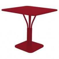 TABLE CARRÉE LUXEMBOURG 80x80 cm, Piment de FERMOB