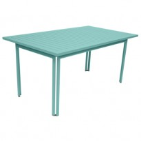 TABLE 160 X 80 COSTA Bleu Lagune de FERMOB