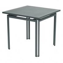 TABLE COSTA 80X80CM GRIS ORAGE de FERMOB