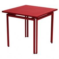 TABLE COSTA 80X80CM PIMENT de FERMOB
