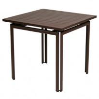 TABLE COSTA 80X80CM ROUILLE de FERMOB