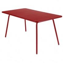 TABLE LUXEMBOURG 143x80 cm, Piment de FERMOB