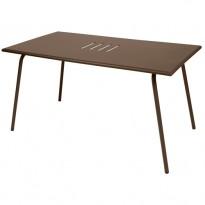 TABLE MONCEAU 146X80X74 ROUILLE de FERMOB