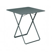 TABLE 71X71 PLEIN AIR GRIS ORAGE de FERMOB