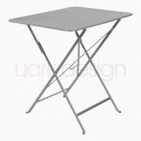 TABLE PLIANTE BISTRO 77 X 57CM GRIS METAL de FERMOB