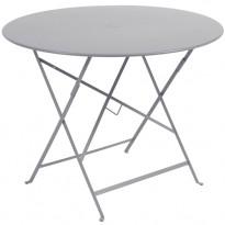 TABLE PLIANTE BISTRO 96CM GRIS MÉTAL de FERMOB