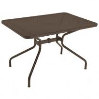 TABLE RECTANGULAIRE CAMBI, 120 x 80 cm, Marron d