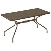 TABLE RECTANGULAIRE CAMBI, 140 x 80 cm, Marron d