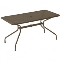 TABLE RECTANGULAIRE CAMBI, 160 x 80 cm, Marron d