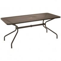 TABLE RECTANGULAIRE CAMBI, 180 x 80 cm, Marron d'Inde de EMU